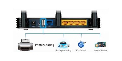 Router compatible con impresoras y escáneres