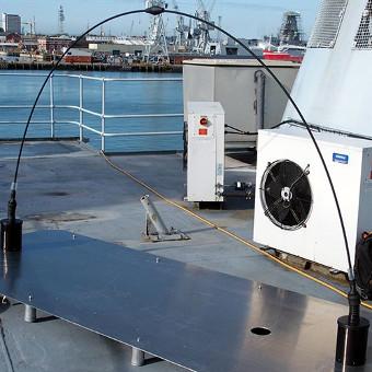 Antena de alta frecuencia para banda ancha