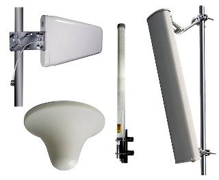 Antenas DAS para interiores y exteriores