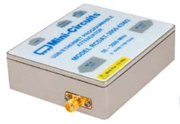 Atenuador programable USB a Ethernet de hasta 2 W
