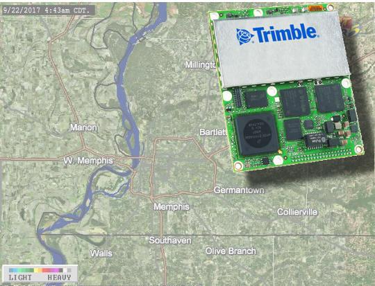 Placa GNSS inercial de bajo consumo