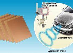 Material para tarjetas con antenas