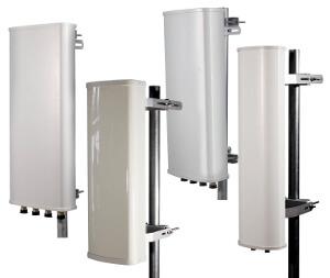 Antenas de sector de 3 GHz