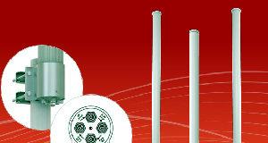 Antenas omnidireccionales de cuatro puertos