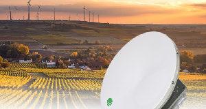 Antena de banda dual de 61 cm
