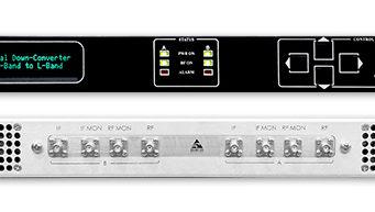 Convertidores de frecuencia dual para satélites LEO