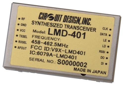 Módulo transceptor de radio compacto