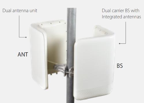 Estación base dual carrier