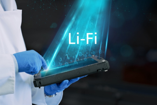 Tecnología LiFi integrada para informática móvil robusta