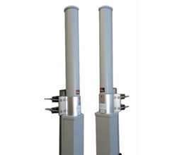Antena omnidireccional polarizada H/V con cubierta