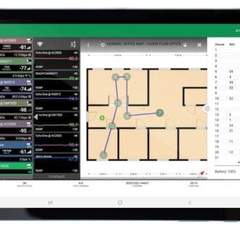 Sistema de testeo de redes inalámbricas AirScout Mobility