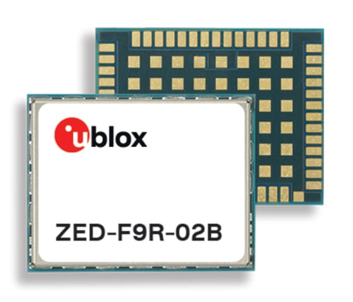 ZED-F9R-02B Módulo GPS con fusión de sensor para robots cortacésped y e-scooters