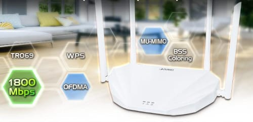 Router Wi-Fi 6 WDRT-1800AX