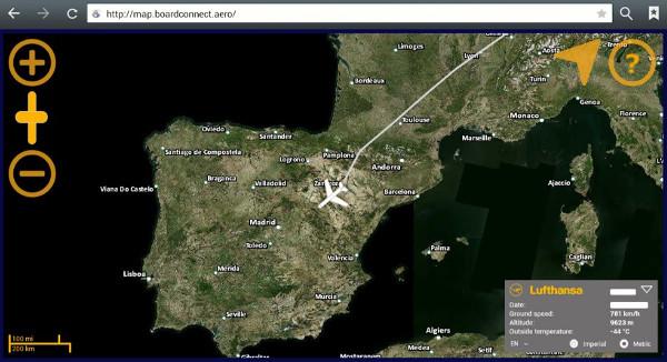 Servicios de entretenimiento wireless en aviones