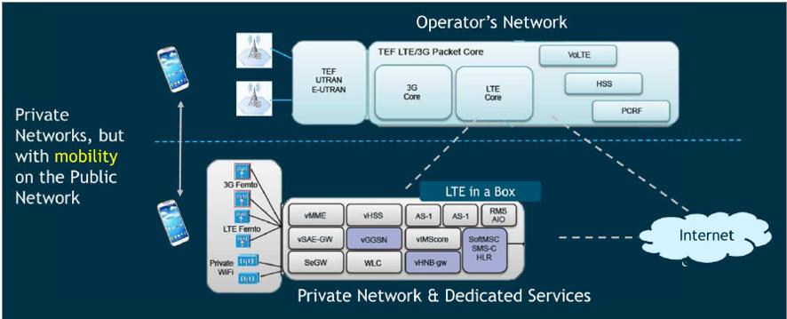 Servicios de Redes Privadas LTE. Fuente: Telefónica